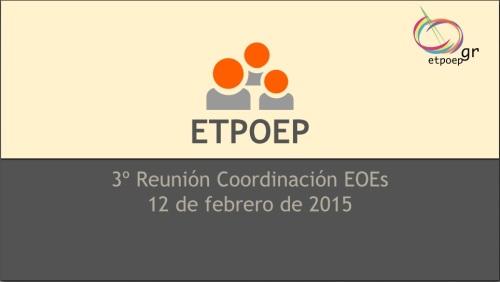 3ª Reunión coordinación EOEs Febrero 2015